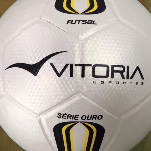 Lote 10 Bolas Futsal Vitória Oficial Série Ouro 500 Revenda - R  459 ... 972c2d6acb13f