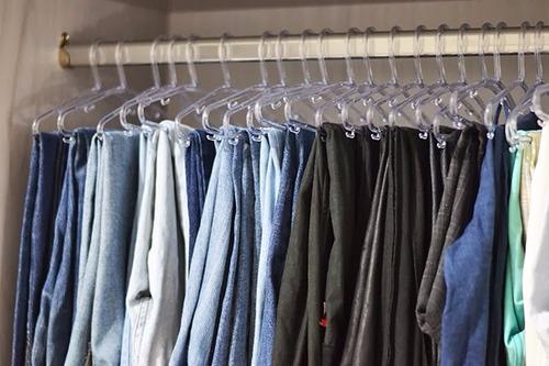 lote 10 calcas jeans sarja e sociais masculinas usadas brech