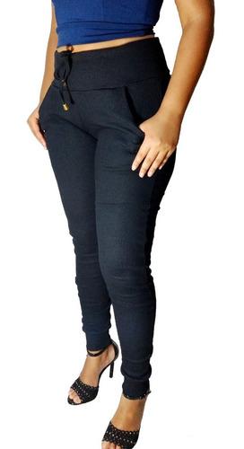 lote 10 calças ribana feminina cintura alta modelo moletom