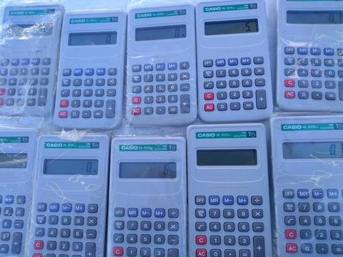 lote 10 calculadoras casio hl820