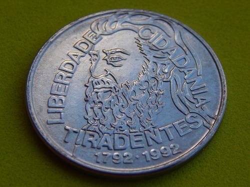 lote 10 cartelas / blisters para moeda 5000 tiradentes 1992