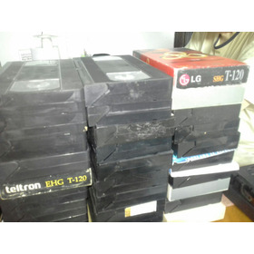 Lote 10 Cassette Vhs Para Volver A Grabar A $100
