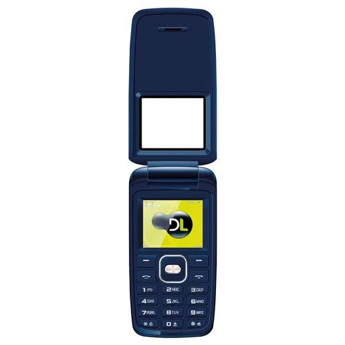 lote 10 celular dl yc335 azul flip dual lacrado