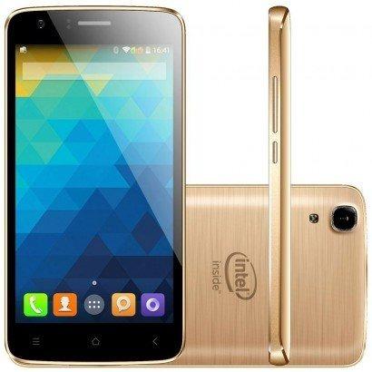 lote 10 celulares qbex x-gold w509 dual 16gb dourado lacrado