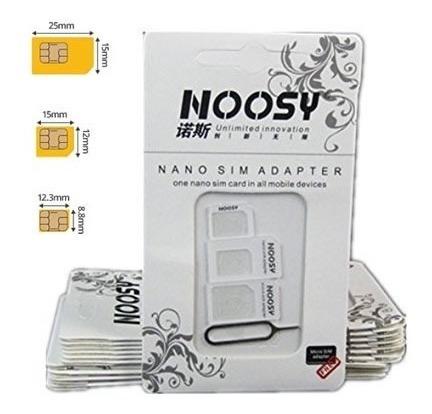 lote 10 kit adaptador chip micro nano sim card iphone androi