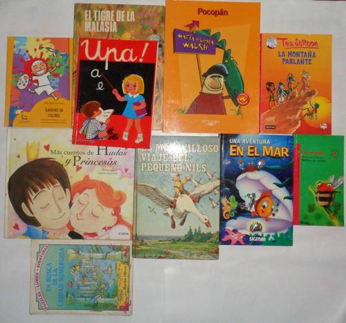 lote 10 libros niños jardin walsh stilton oliver longchamps