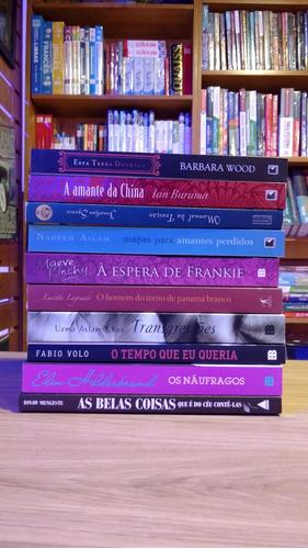 lote 10 livros de romance da literatura estrangeira
