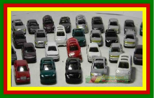 lote 10 miniaturas automóveis esc 1:200 figuras p/ maquete