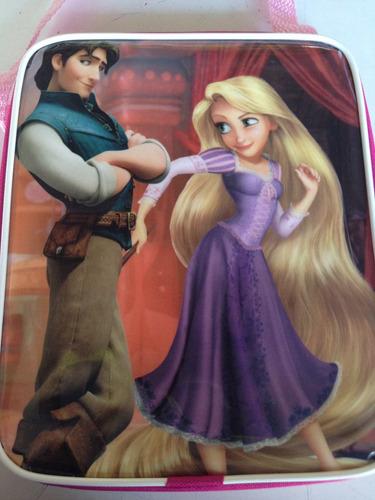 lote 10 mochilas dulceros rapunzel y principe