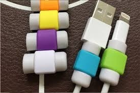 lote 10 protector de cable lightning  iphone ipad 11 colores