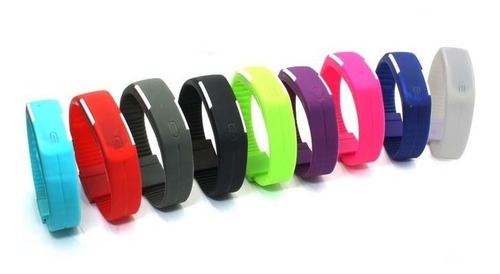 lote 10 pz reloj pulsera touch led digital deportivo colores