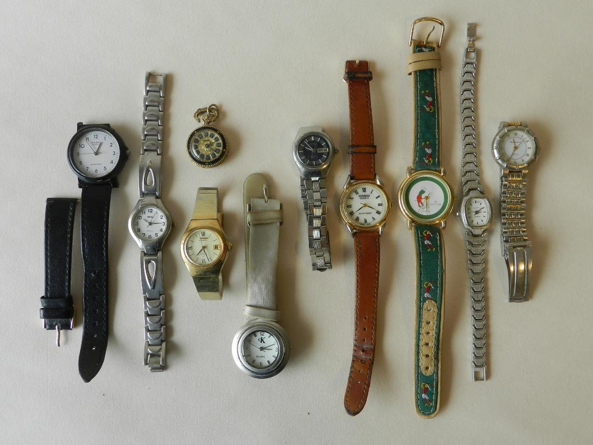89317b9c1c1e lote 10 relojes dama usados sin pilas. Cargando zoom.