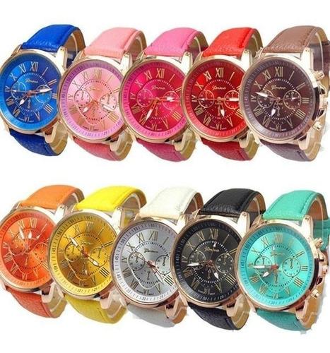lote 10 relojes geneva moda casual mayoreo envió gratis