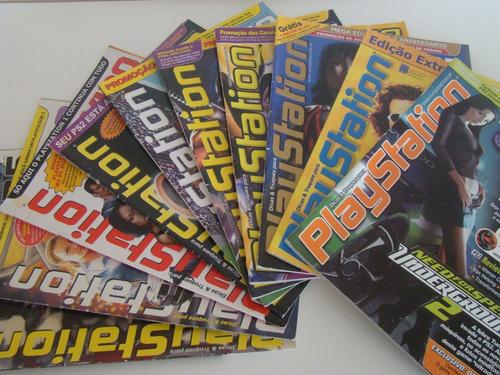lote 10 revistas games - dicas e truques para playstation