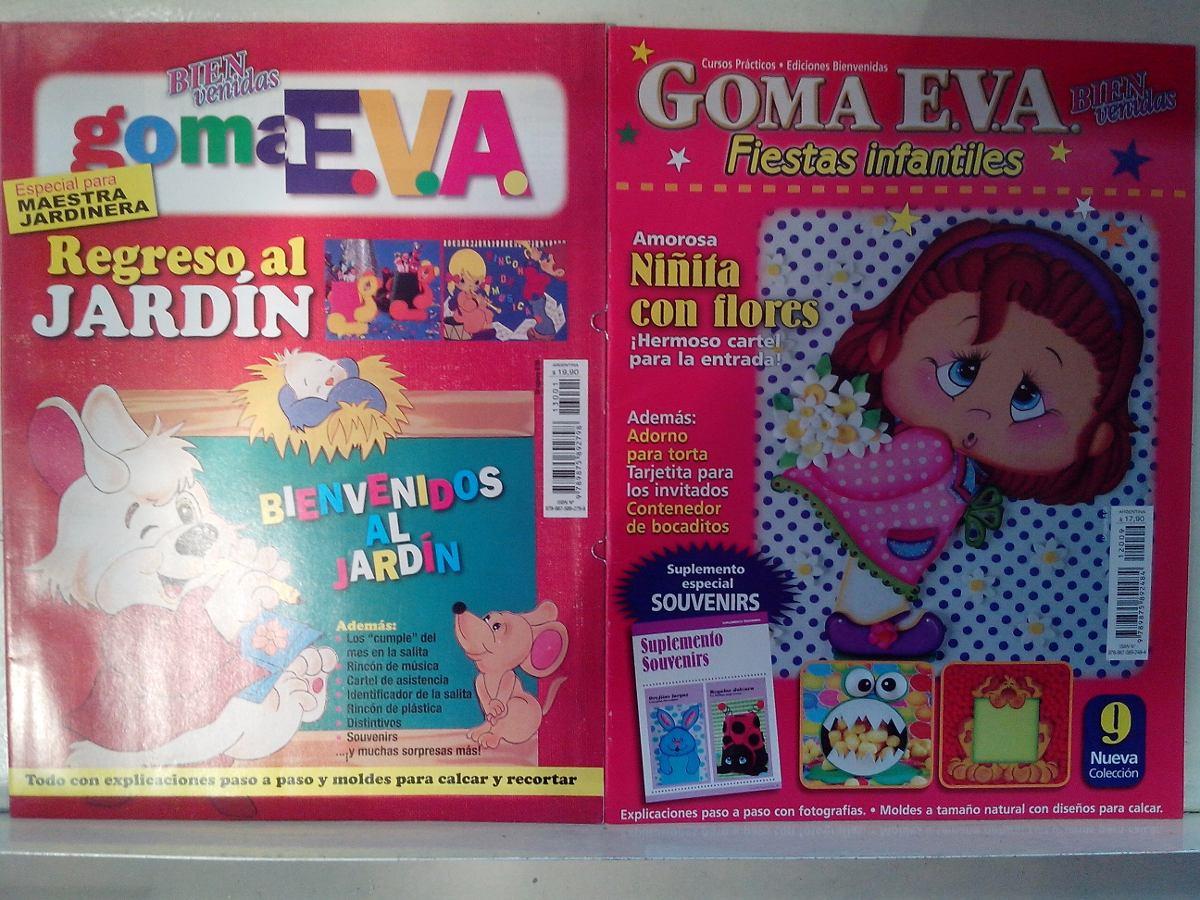 Lote 10 Revistas Manualidades En Goma Eva Paso A Paso Moldes 120