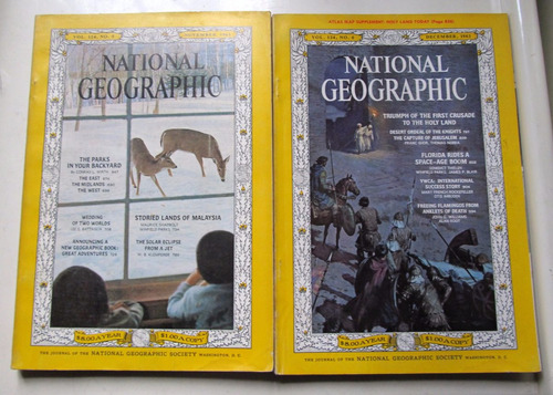 lote 10  revistas national geographic 1963