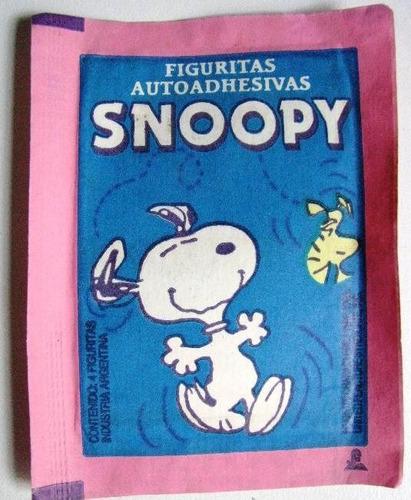 lote 10 sobres cerrados figuritas album snoopy