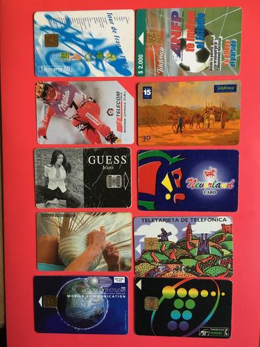 lote 10 tarjetas telefónicas extranjeras las de la foto t004
