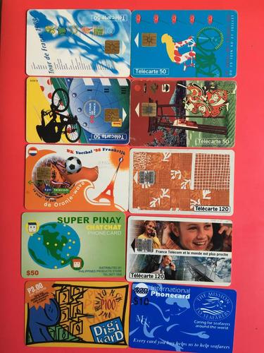 lote 10 tarjetas telefónicas extranjeras las de la foto t014