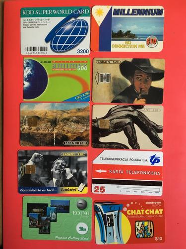 lote 10 tarjetas telefónicas extranjeras las de la foto t016
