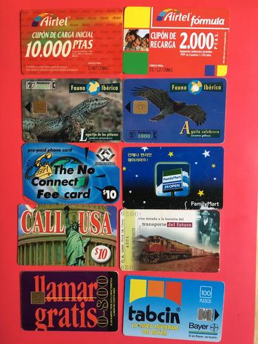 lote 10 tarjetas telefónicas extranjeras las de la foto t045