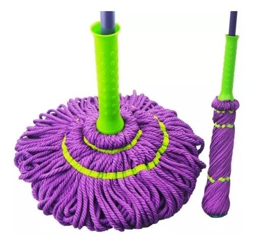 lote 10 trapeador magico mop 1.30 microfibra autoexprimible