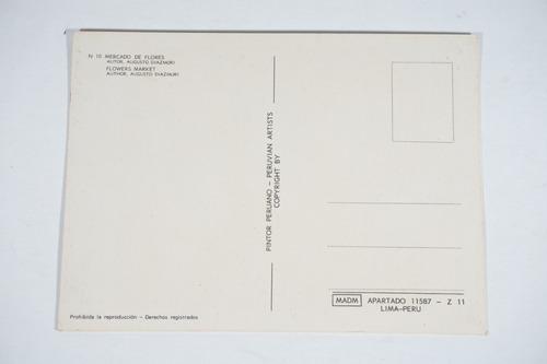 lote 10 unidades- colección de postales  pintores peruanos