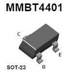 lote 10 x mmbt4401 transistor npn 60v 600ma itytarg
