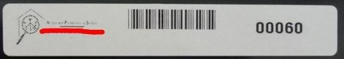 lote 100 etiquetas patrimonio codigo barras e rfid protegida