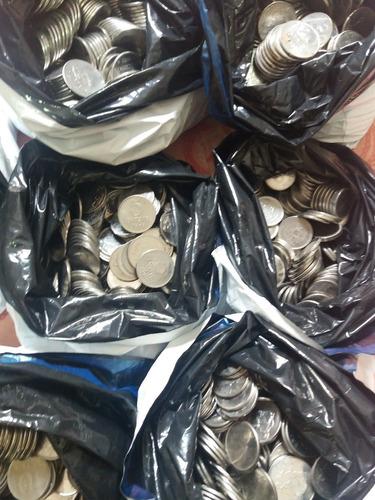 lote 1000 moedas nacionais antigas de inox - aleatórias