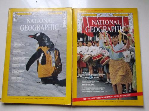 lote 11  revistas national geographic  año 1971