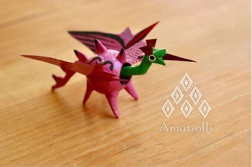 lote 12 alebrijes artesanales miniatura cabeza móvil