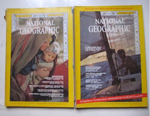 lote 12 revistas national geographic  año 1968