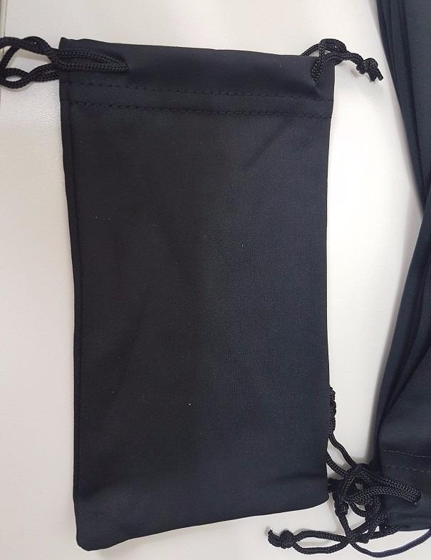 d4d9c3473 Lote 12 Saquinhos Saco Case Microfibra Preto Oculos Sol Grau - R$ 24 ...
