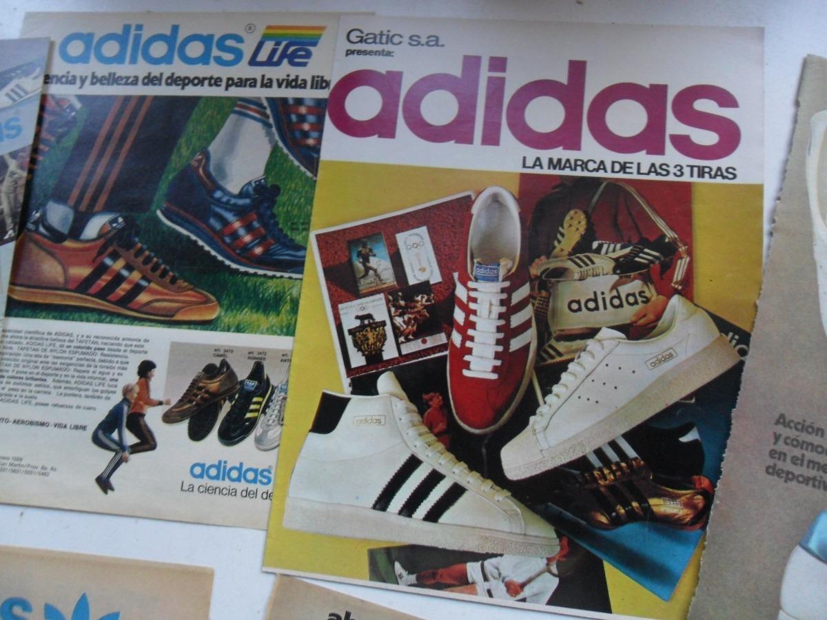 Antigua Publicidad Lote 392 13 Zapatilla Cartel Adidas Foxphxwfq Folleto 5R34ALj