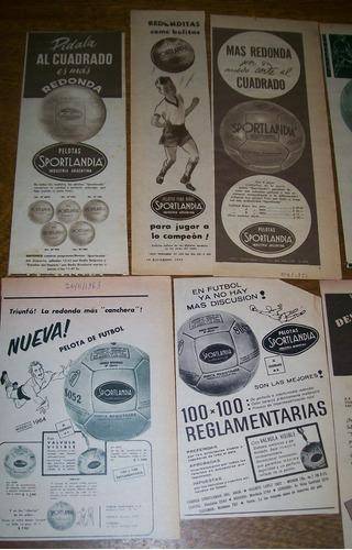lote 13 publicidades pelotas sportlandia (356) balones