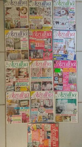 lote 13 revistas agulha de ouro bordados -frete grátis