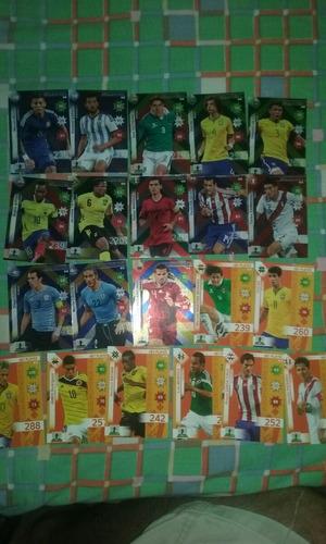 lote 135 cartas adrenalyn copa america 2015