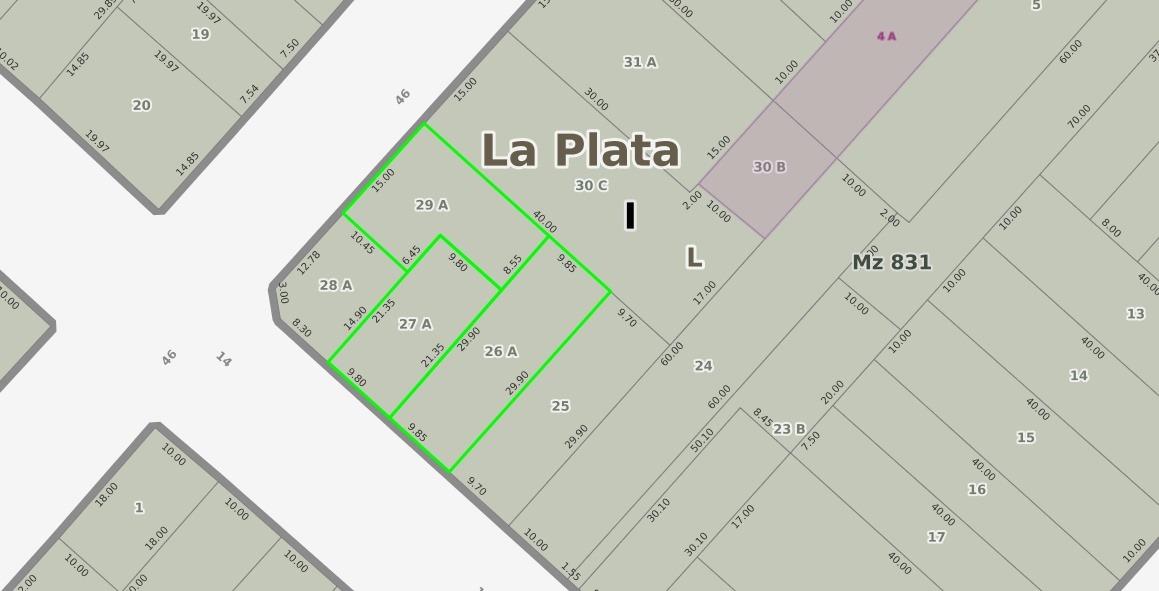 lote 14 esq.46 (venta)
