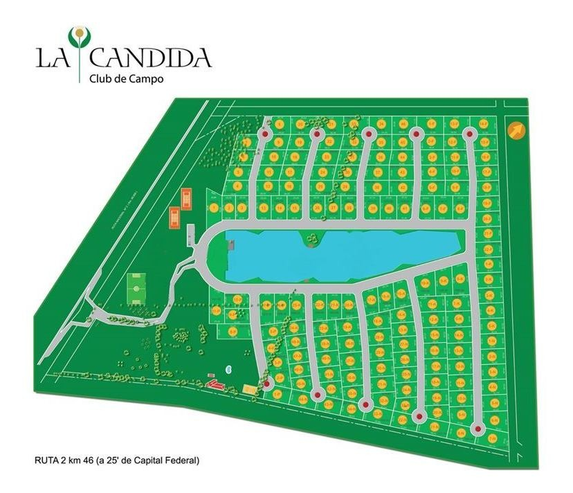 lote 1434 mts la candida country zona sur