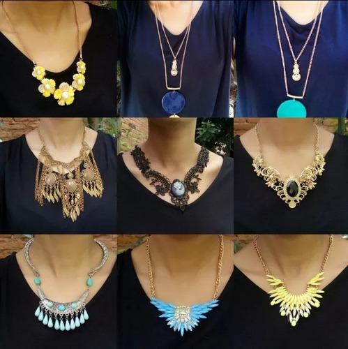 lote 15 colares femininos para revenda kit de bijus