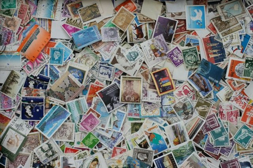 lote 150 selos diversos países - frete grátis - aproveite!
