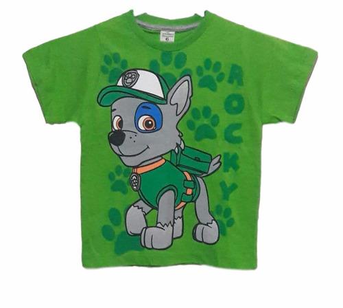 lote 15camiseta blusas manga curta infantil patrulha caninac