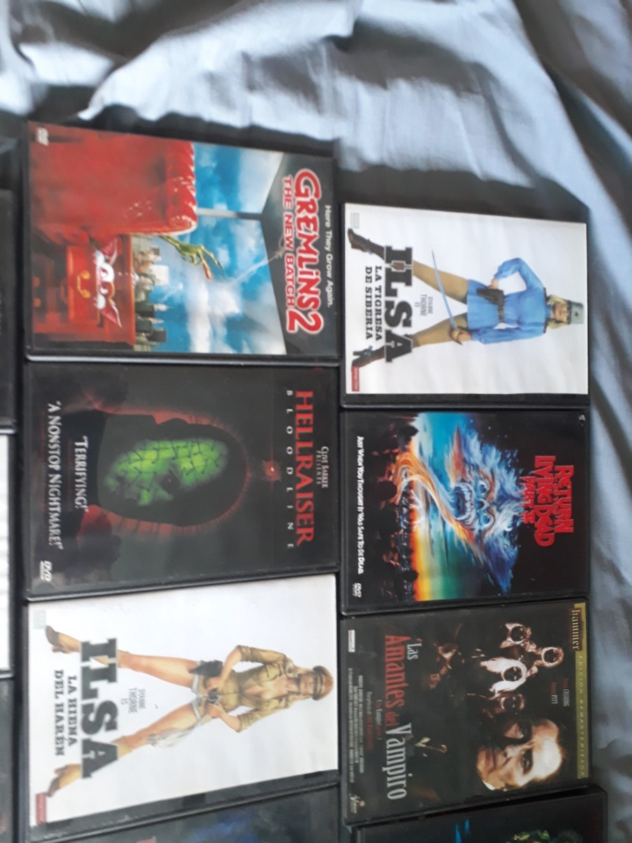 Amante Loba Y Vampira 2 lote 16 dvd gremlins candyman hellraiser etc terror - $ 800,00
