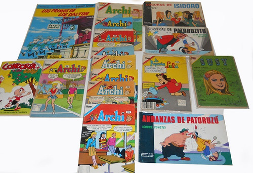lote 16 revistas comics: archi, paturuzu, isidoro condorito
