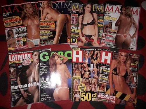 lote - 17 revistas [maxim/h/premiun/ruta/ruta69/playboy/etc]