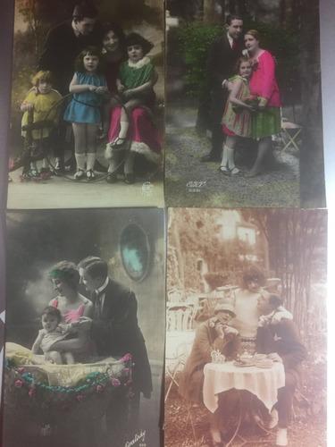 lote 17 tarjetas postales escritas tematica familia