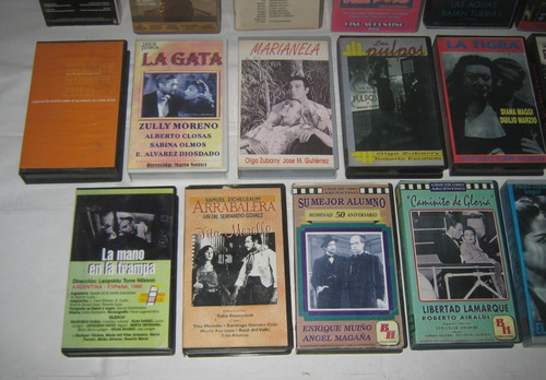 lote 17 vhs cine argentino clásico incunables ibañez menta