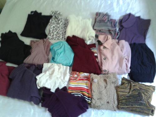 lote 18 blusas frio feminino tm m frete gratis
