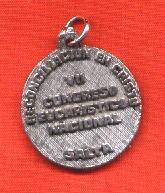 lote 2 antiguas medallas vii congreso eucarístico nacional